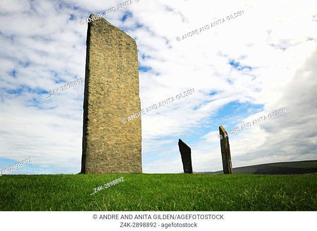 Stenness Stones on Orkney Islands, Scotland, UK