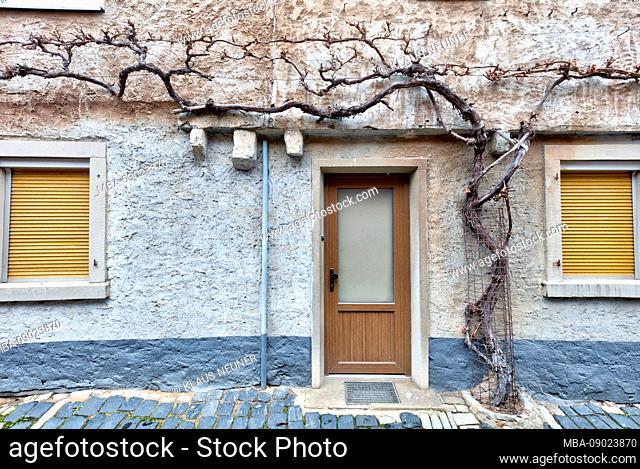 Facade, Front Door, Volkach, Franconia, Bavaria, Germany, Europe
