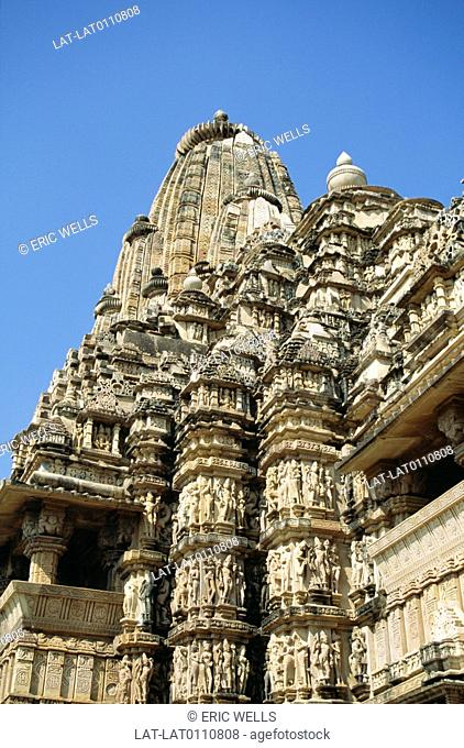 Khajuraho has a large group of Hindu and Jain temples built during the Chandella dynasty.The temple is famous for its erotic carvings