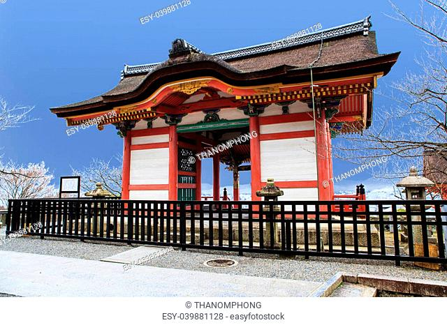 Kyomizu Temple in Winter Season kyoto Japan. built in 1633, is one of the most famous landmark of Kyoto with UNESCO World Heritage