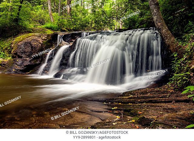 Avery Creek Falls - Pisgah National Forest - near Brevard, North Carolina, USA