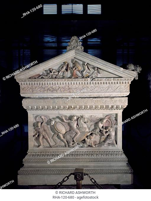 Sarcophagus of Alexander the Great, Istanbul, Turkey, Europe