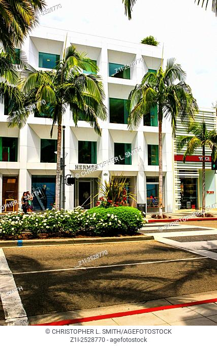 Hermes store on Rodeo Drive in Beverly Hills California