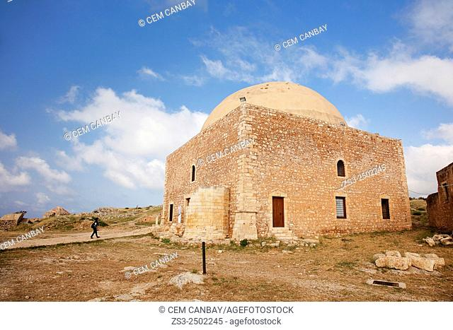 The mosque of Sultan Ibrahim inside the Venetian fortress in Rethymno town, Crete, Greek Islands, Greece, Europe