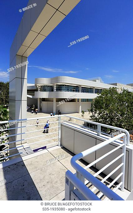Exhibitions Pavilion in Getty Center. Los Angeles. California. USA