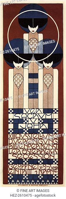 Poster for the Vienna Secession Exhibition, 1902. Artist: Moser, Koloman (1868-1918)