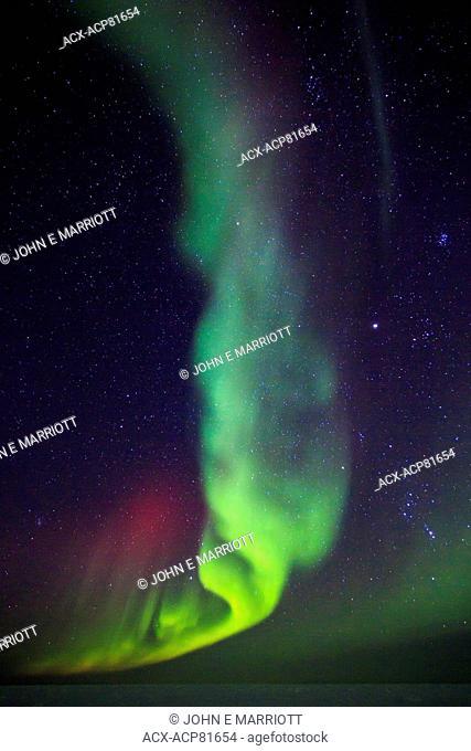 Aurora borealis in Nunavut