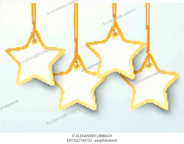 Four Golden Price Stickers Stars PiAd
