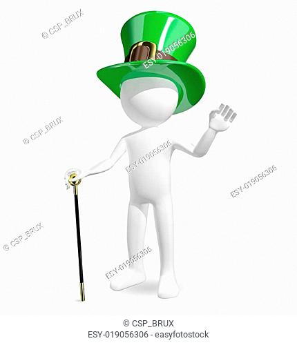 man in hat St. Patrick's