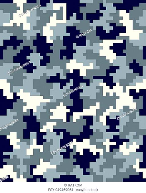 Seamless digital fashion camouflage pattern, vector