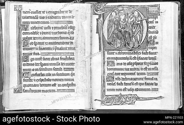 Psalter - 1280/95 (20th century binding) - Belgian (Ghent or Bruges) - Origin: Belgium, Date: 1280–1295, Medium: Manuscript with 214 folios, 17 miniatures