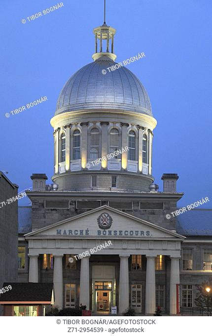Canada, Quebec, Montreal, Bonsecours Market,