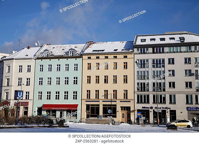 building frontage at moritzplatz in berlin kreuzberg
