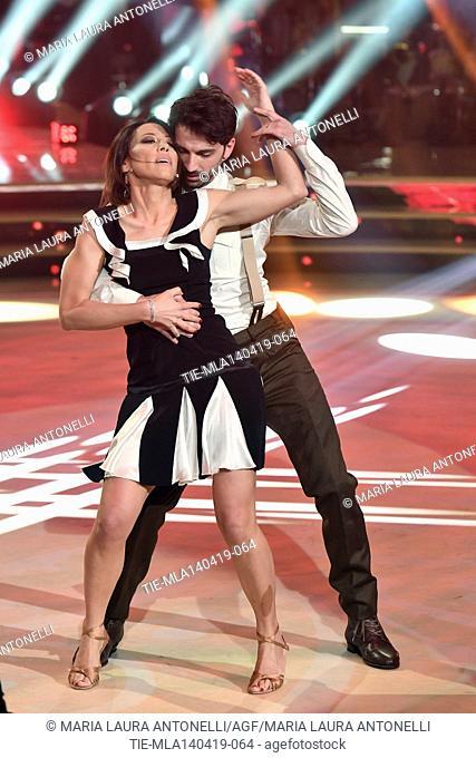 Nunzia De Girolamo during the performance at the talent show ' Ballando con le stelle ' (Dancing with the stars) Rome, ITALY-14-04-2019