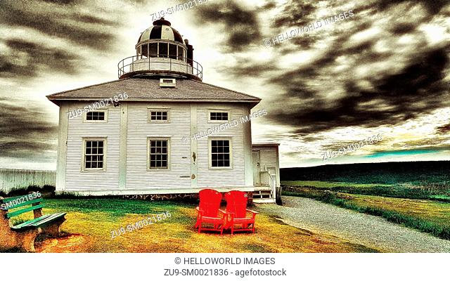 Original Cape Spear lighthouse (opened in 1836), Avalon Peninsula, Newfoundland, Canada