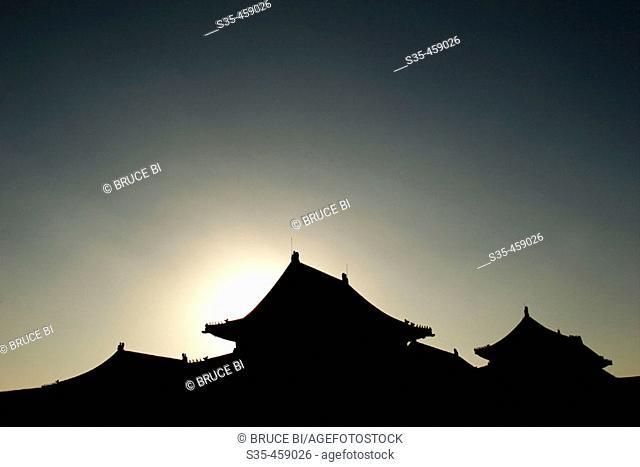 The halls of Forbidden City, Beijing, China