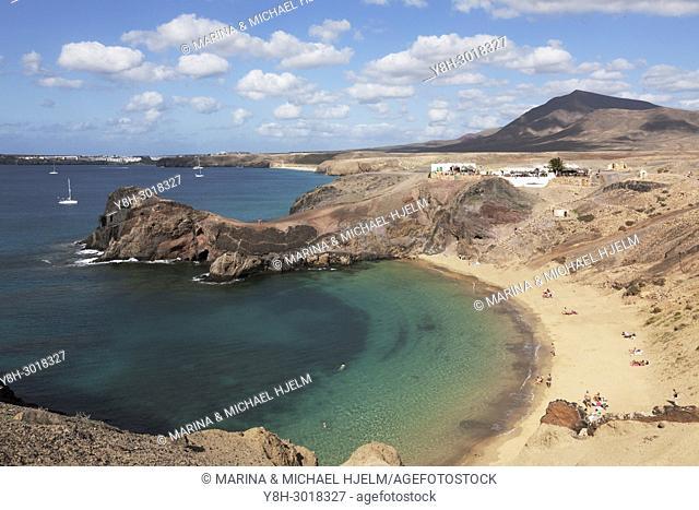 Punta del Papagayo, Canary Islands; Lanzarote; Spain