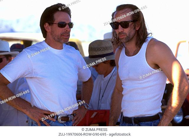 Jun 06, 1997; Los Angeles, CA, USA; Jun 06, 1997; Los Angeles, CA, USA;Actor NICHOLAS CAGE stars as Cameron Poe on the set of with director SIMON WEST in 'Con...