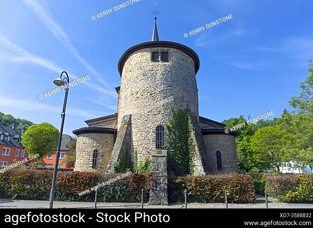 Europe, Luxembourg, Diekirch, Saeul, Église Assomption de la Bienheureuse Vierge Marie (Church of the Assumption of the Blessed Virgin Mary)