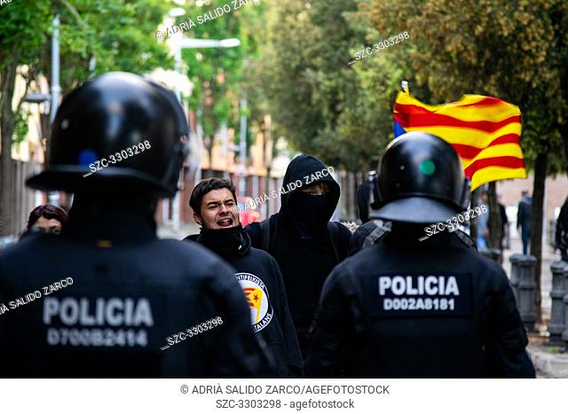 May 11, 2019 - Girona, Spain - The number two of Vox Spain, Javier Ortega Smith, has been this evening in a municipal election electoral act in Girona