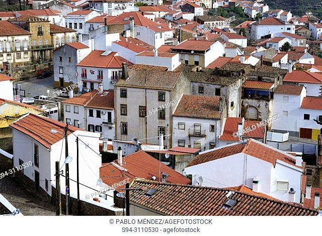 View from the castle of the rooves in Idanha-a-Nova, Castelo Branco, Portugal