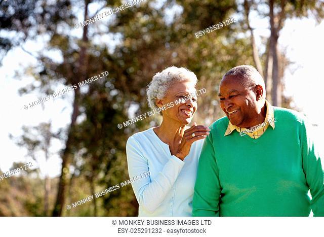 Senior Couple Enjoying Walk Together