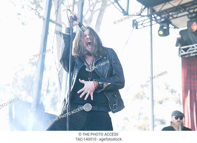 Rival Sons perfom at The Sabroso Craft Beer, Taco, and Music Festival on April 8, 2017 in Dana Point, California