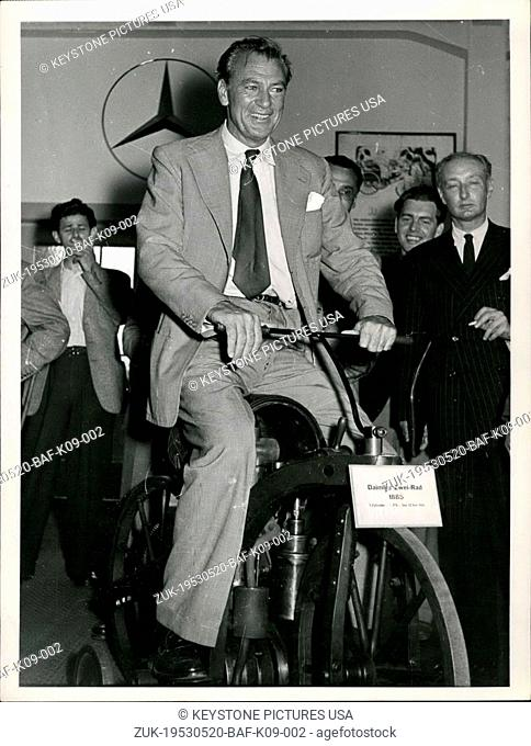 May 20, 1953 - What Errol Flynn knows Gary Cooper already knows a very long time!: And therefore Gary Cooper did not buy only one but three Mercedes cars of the...