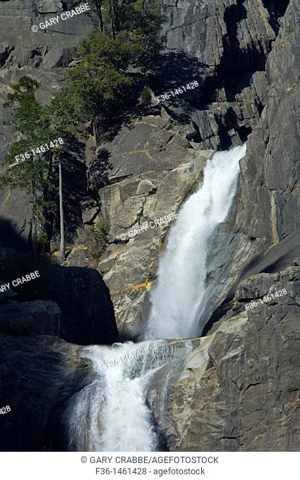 The Middle Cascades between Upper and Lower Yosemite Falls, Yosemite National Park, California
