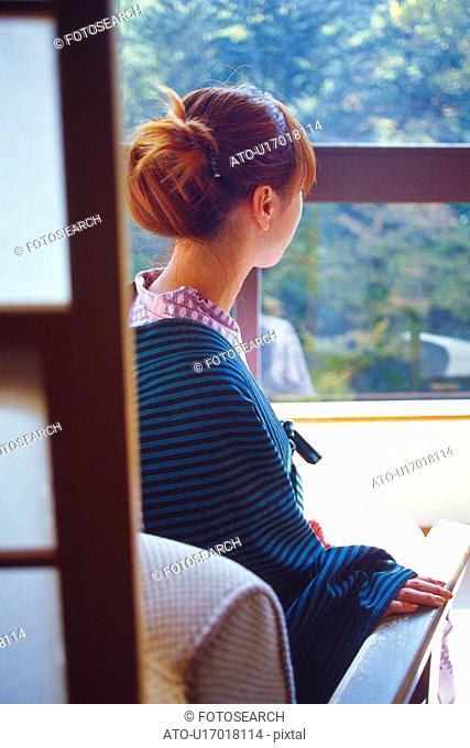 Young Adult Women Wearing a Yukata