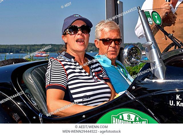 Hamburg Berlin Klassik Oldtimer Rallye meets 24 Tours du Pont. Featuring: Katarina Witt, Ulrich Knieps Where: Potsdam, Germany When: 27 Aug 2016 Credit:...