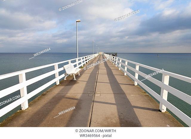Seebruecke, Timmendorfer Strand, Ostseekueste, Luebecker Bucht, Schleswig-Holstein, Deutschland, Europa