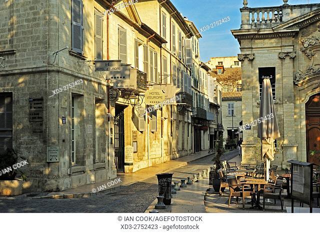 Hotel lâ. . Europe, Place Crillon, Avignon, Vaucluse Department, Provence, France