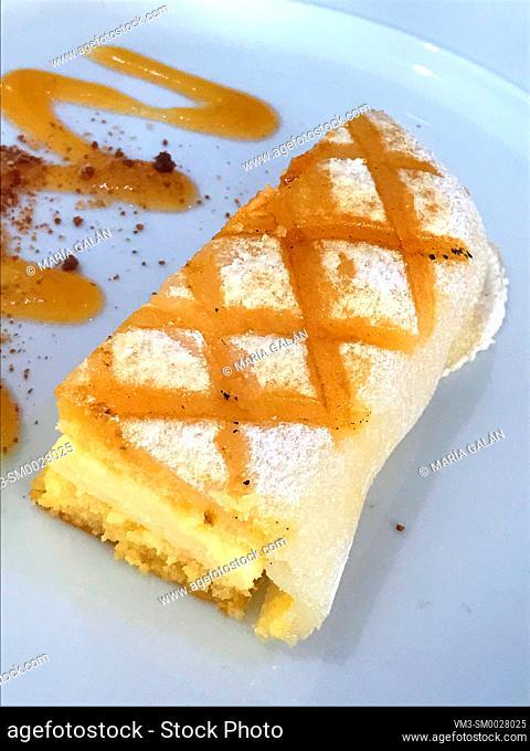 Ponche segoviano, traditional cake from Segovia. Spain