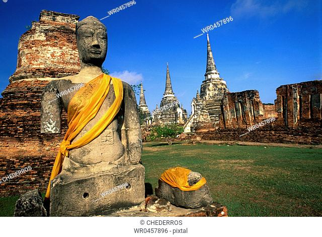 Thailand Ayutthaya Royal temple Wat Phra Si Sanphet founded in the 15th century