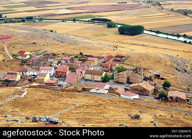Gormaz, panoramic view. Soria province, Castilla y Leon, Spain