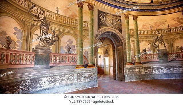 Hallway entrance Interior of Baroque Villa Palagonia - Baghera Sicily