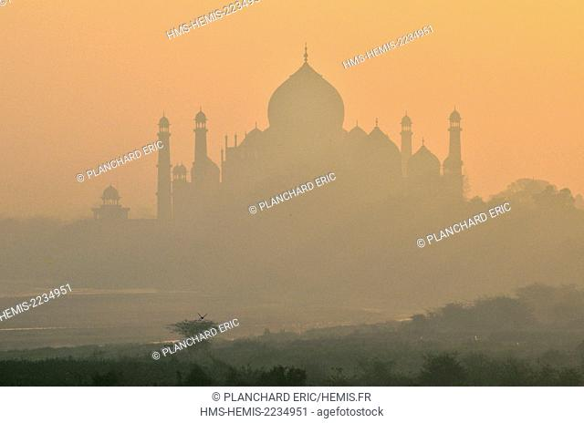 India, Uttar Pradesh State, Agra, the figure of the Taj Mahal, listed as World Heritage by UNESCO