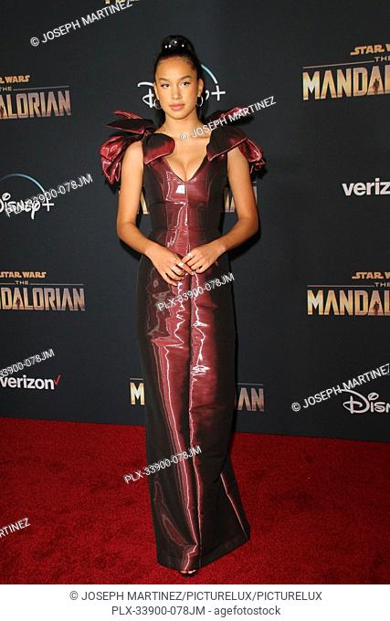 """Sofia Wylie at """"""""The Mandalorian"""""""" Premiere held at El Capitan Theatre in Hollywood, CA, November 13, 2019. Photo Credit: Joseph Martinez / PictureLux"""