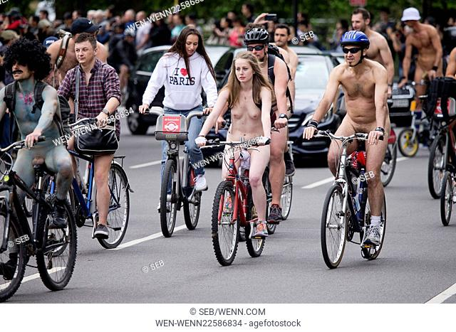 World Naked Bike Ride in London, beginning in Hyde Park Featuring: Atmosphere Where: London, United Kingdom When: 12 Jun 2015 Credit: Seb/WENN.com