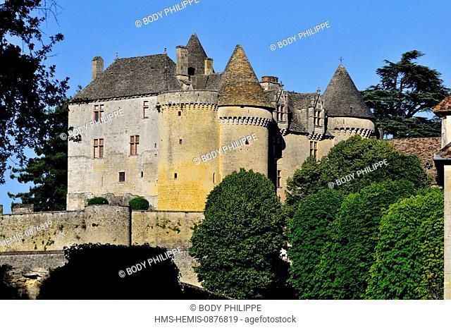 France, Dordogne, Perigord Noir, Sainte Mondane, the castle of Fenelon of the 15th century home of Francois de Lamothe Fenelon Salignac author of Telemachus
