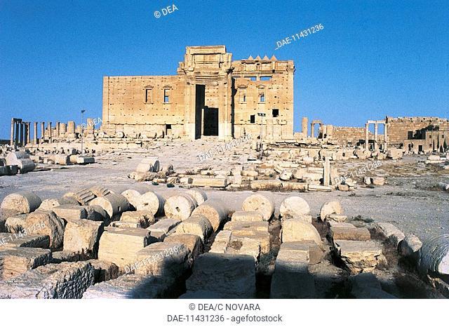 Temple of Bel or Baal, Palmyra (Unesco World Heritage List, 1980), Syria. Roman civilisation, 1st century AD. Detail
