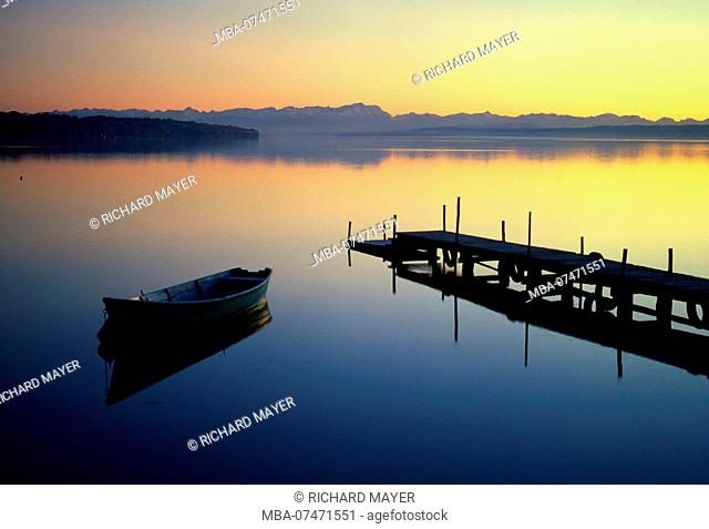 Ammersee in the evening light