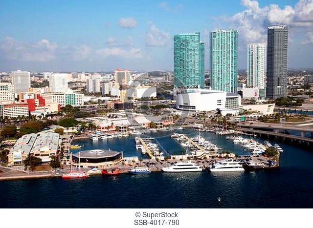 Aerial of Bayside Marketplace, Miami