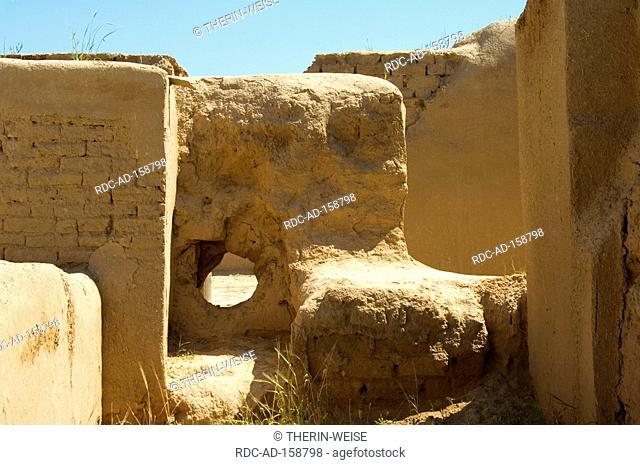Nisa excavation site Kopet Dag mountains Ashgabat Turkmenistan Asgabat old capital of the Parthians