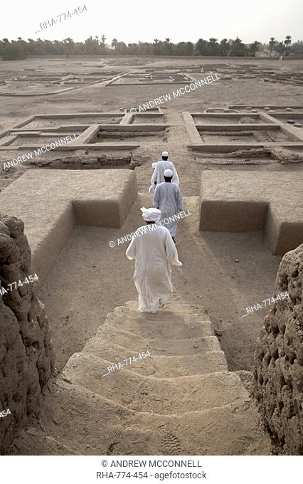 The grounds surrounding the 3, 500 year-old mud-brick Western Deffufa, the seat of the first independent kingdom of Kush, Kerma, Sudan, Africa