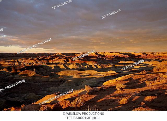 Little Painted Desert at sunset