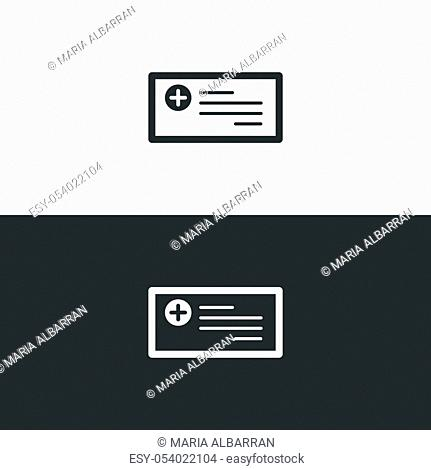 Prescription icon. Isolated image. Flat pharmacy and medicine vector illustration