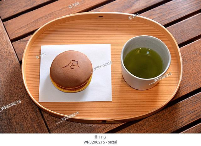 Japanese confection and tea set