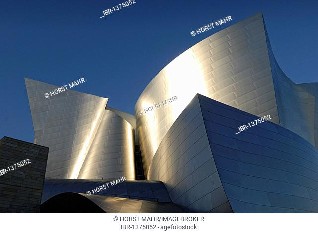 Walt Disney Concert Hall, façade detail, stainless steel, Los Angeles, California, USA